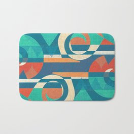 Mountains and Waves Bath Mat