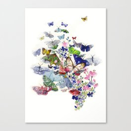 A flow of happiness Canvas Print