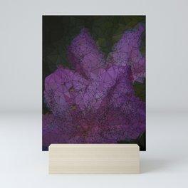 Low Poly Purple Azalea Flowers Mini Art Print