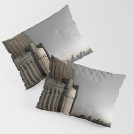 Griffith Park Observatory with Downtown LA Skyline Pillow Sham