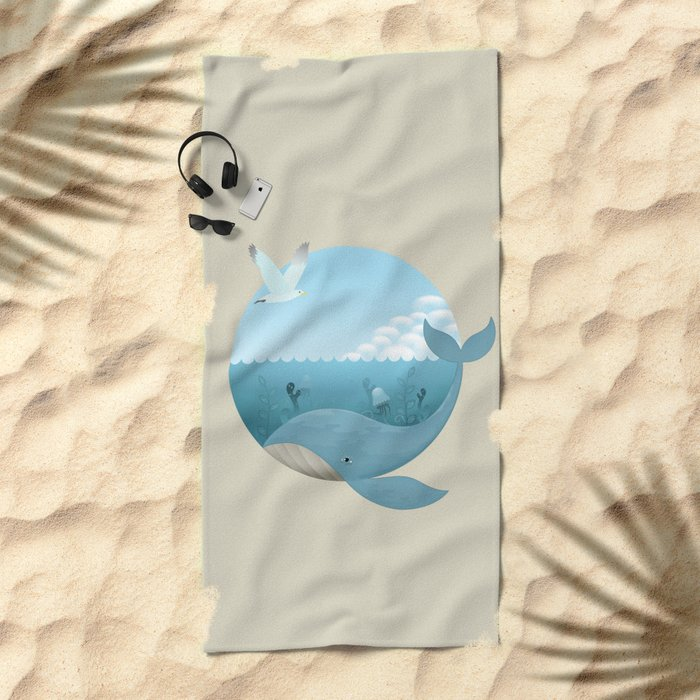 Whale & Seagull (US and THEM) Beach Towel