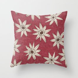 sema jester red brown Throw Pillow