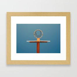 basketball hoop 5 Framed Art Print