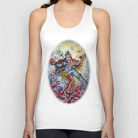 shiva Tank Tops featuring Shiva Shakti by Harsh Malik