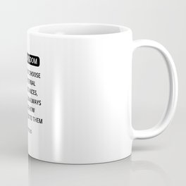 Stoic Philosophy Quotes - We cannot choose our external circumstances -Epictetus Coffee Mug