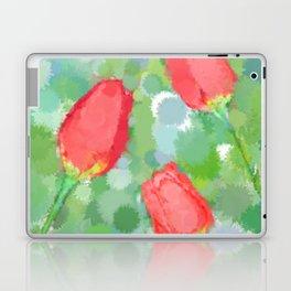 Floral Watercolor organic seamless pattern Laptop & iPad Skin