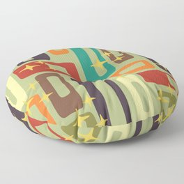 Retro Mid Century Modern Abstract Pattern 225 Floor Pillow