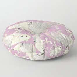 Totem Artic Wolf lilac Floor Pillow
