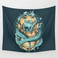 diver Wall Tapestries featuring The Diver by Robin Clarijs