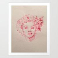 Red Monro Art Print
