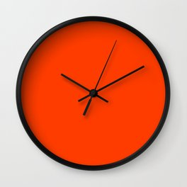 Tangy Solid Orange Pop Wall Clock