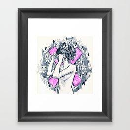 ex girl to next girl Framed Art Print