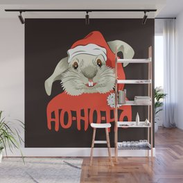 The Christmas Rabbit Wall Mural