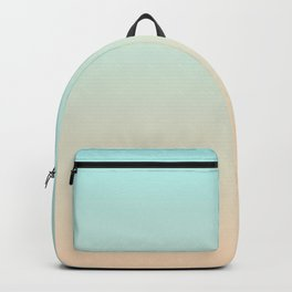Pale Turquoise Tropical Paradise Ibiza Island Balearic Beach Backpack
