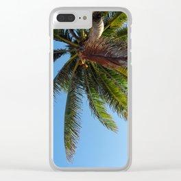 Palm Tree Akumal Beach Clear iPhone Case