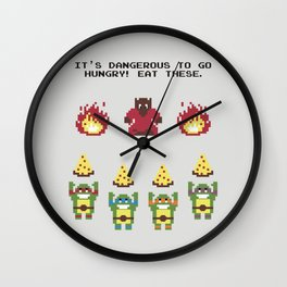 The Legend of Pizza Wall Clock