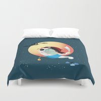 tatoo Duvet Covers featuring Captain Vermelho by feigenherz BAM
