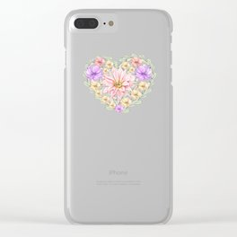 My Valentine Clear iPhone Case