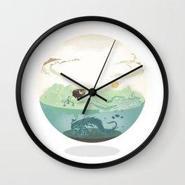 Bubble-map #01 Kalt Wall Clock