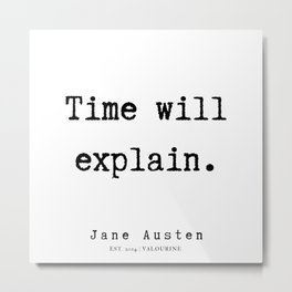 78    | Jane Austen Quotes | 190722 Metal Print