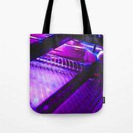 Neon Piano Tote Bag
