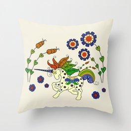 Swedish Unicorn Throw Pillow