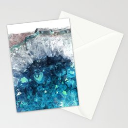 Blue Crystals Stationery Cards