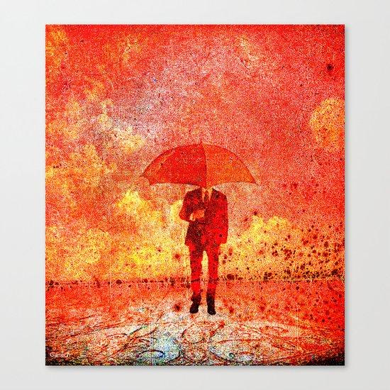 The man in the umbrella Canvas Print