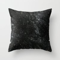 gray Throw Pillows featuring Gray by Justin Similey