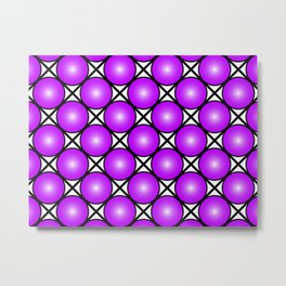 Neon Purple Pattern Metal Print