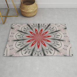 Our Tune Abstract Sheet Music Floral Mandala Rug