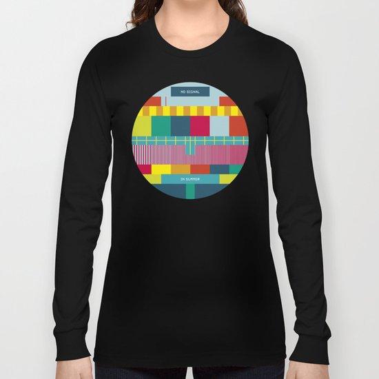 NØ SIGNAℓ Long Sleeve T-shirt
