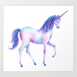 Watercolor Unicorn 2 Art Print