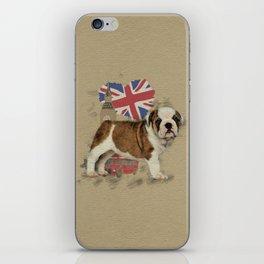 English Bulldog Puppy Sketch iPhone Skin