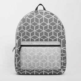 Cubes pattern black glitter Backpack