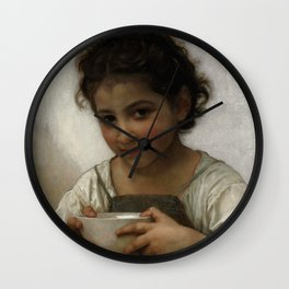 """William-Adolphe Bouguereau """"La soupe au lait"""" Wall Clock"""