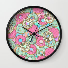 Sweet Donuts Cookies Wall Clock