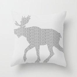 Moose Code Throw Pillow