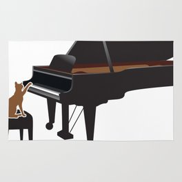 Great Gift For Piano And Cat Lover. Shirt Ideas Rug