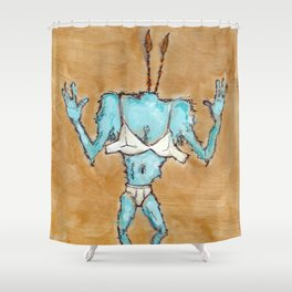 The Blinded Grump. Shower Curtain