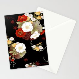 Japanese Sumi Flower Print Stationery Cards