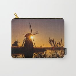 Dutch Windmills of Kinderdijk at sunrise Carry-All Pouch