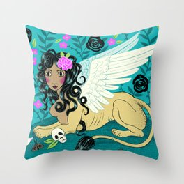 Night Sphinx Throw Pillow