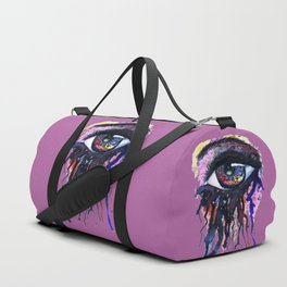 Rainbow eye splashing Duffle Bag