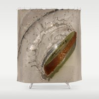 kiwi Shower Curtains featuring kiwi by Helenehoie