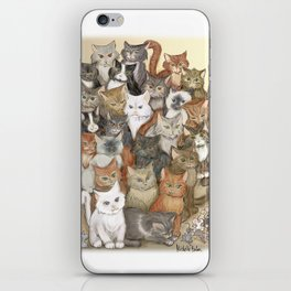 1000 cats iPhone Skin