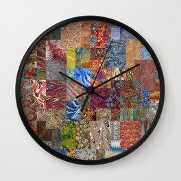 Turkish Marbled Paper Art (Ebru) Wall Clock