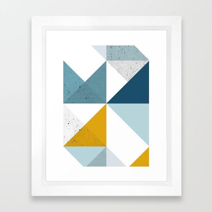 Modern Geometric 18 Framed Art Print
