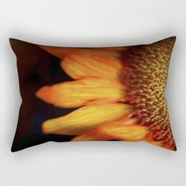 Flaming Sunflower Rectangular Pillow