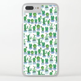 Cactus in Watercolor Clear iPhone Case